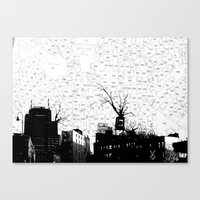 NYC splatterscape Canvas Print