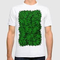 Weed. Mens Fitted Tee Ash Grey SMALL