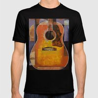 Guitar Mens Fitted Tee Black SMALL