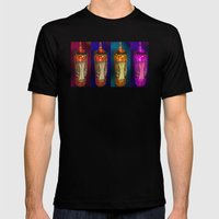Glow Mens Fitted Tee Black SMALL