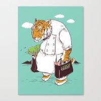 Kitchen Shopping Canvas Print