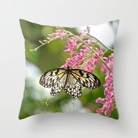 Black Laced Throw Pillow