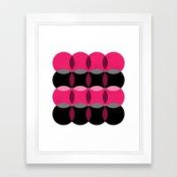 Pink & Black  Framed Art Print