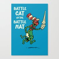 Battle Cat in the Battle Hat Canvas Print