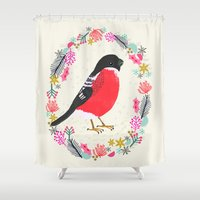 Bullfinch By Andrea Laur… Shower Curtain