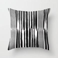 White Lines Throw Pillow