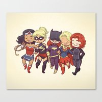 Super BFFs Canvas Print