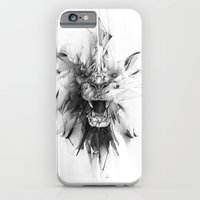 iPhone Cases featuring STONE LION by Alexis Marcou