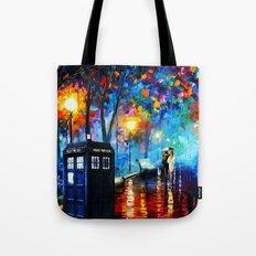 Tardis Romantic Night Tote Bag