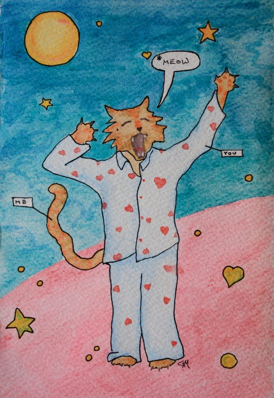 Cat's Pajamas Art Print