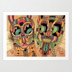 Máscaras Art Print