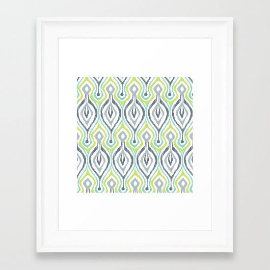 Sketchy IKAT Framed Art Print