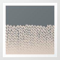 Half Knit Ombre Nat Art Print