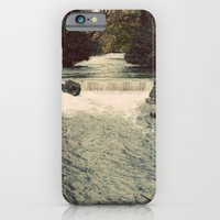 Rocky River Waterfall Englischer Garten Germany Color Photo Isar River iPhone 6 Slim Case