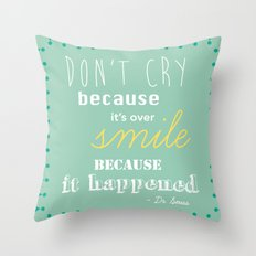 Dr. Seuss Quote Throw Pillow