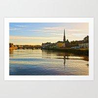 River Ayr In Autumn Art Print