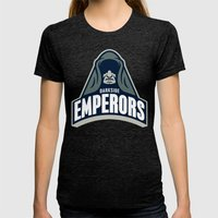 DarkSide Emperors -Blue Womens Fitted Tee Tri-Black SMALL