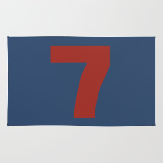 Number 7 Area & Throw Rug