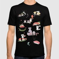 The Sushi Wheel Mens Fitted Tee Black SMALL