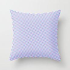 PINK & BLUE DOT Throw Pillow