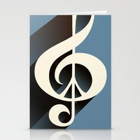Steal Blue Retro Music &… Stationery Cards