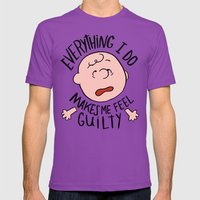 CHARLIE BROWN Mens Fitted Tee Ultraviolet SMALL