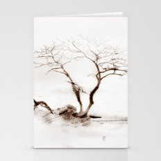 Scots Pine Sepia Stationery Cards