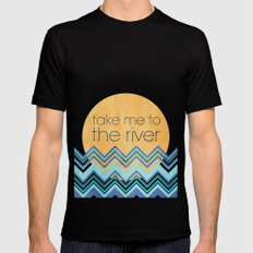 Take Me to the River Black Mens Fitted Tee SMALL
