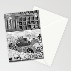 Paris, somewhere on a wall Stationery Cards