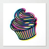 CMYK Cupcake Canvas Print