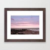 sunset in winter Framed Art Print
