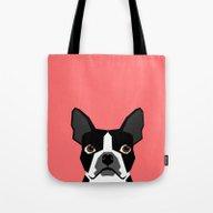 Kennedy - Boston Terrier… Tote Bag