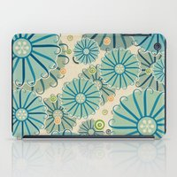 Retro Crazy Flowers iPad Case