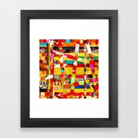 Jiseo (stripes 12) Framed Art Print