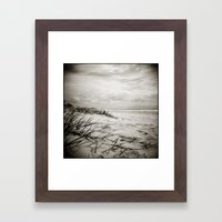 { sand, surf, sun } Framed Art Print