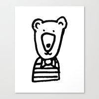 Monochrome Bear Nursery … Canvas Print