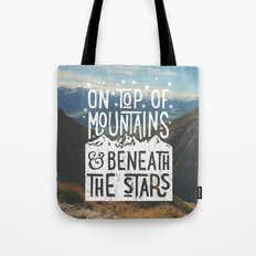 On Top Of Mountain And B… Tote Bag