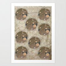 Honeybee Pattern Art Print