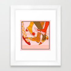 Let's Twist Again Framed Art Print