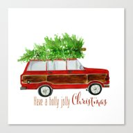 Christmas Wagoneer  Canvas Print