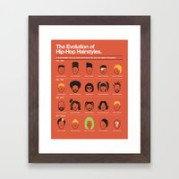 The Evolution Of Hip-Hop Hairstyles Framed Art Print