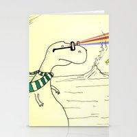 Hipster Laser Dinosaur Stationery Cards