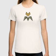Arts & Crafts style tulip Womens Fitted Tee Natural SMALL