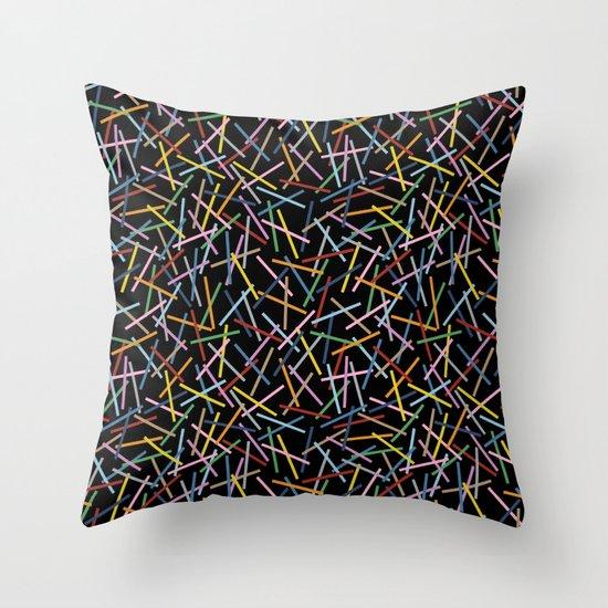 Kerplunk Black 2 Throw Pillow