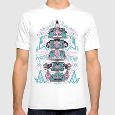 Toto-Tem White SMALL Mens Fitted Tee