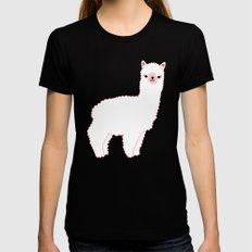 The Alpacas II Womens Fitted Tee Black SMALL