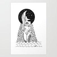 luna llorona Art Print
