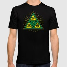 The Tribal Triforce Mens Fitted Tee Black SMALL