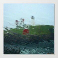 Nubble Lighthouse in the Rain Canvas Print