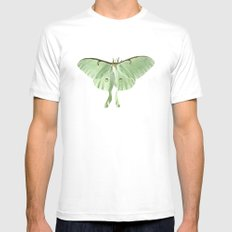 luna moth SMALL Mens Fitted Tee White